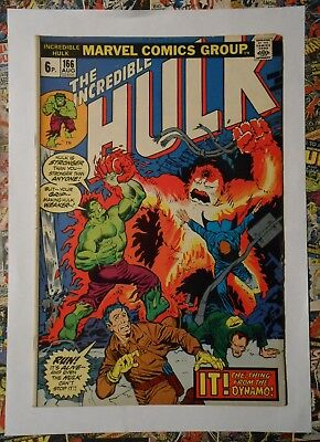 INCREDIBLE HULK #166 - AUG 1973 - 1st Zzzax APPEARANCE! - FN+ (6.5) PENCE COPY