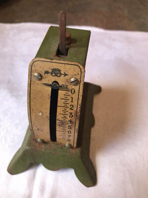 Vintage Toy? Tiny Metal Scales. Gorgeous! 8 Ozs.english?
