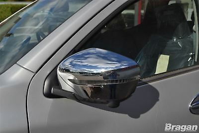 To Fit 2014+ Nissan Juke Shiny Chrome Mirror Covers Set 2 Piece SUV Accessories