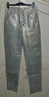 VINTAGE Tuhot 1980s-90s Original Rock Chic Snake Skin Retro Leather Pants