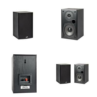 Polk Audio T15 Bookshelf Speakers Pair Black New