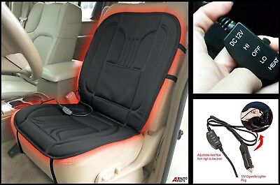 Front 12v Heated Car Seat Cover Padded Electric Cushion For Peugeot 406 407 408