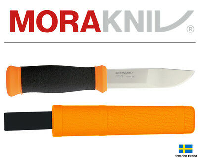 Morakniv Fixed Blade Knife Mora 2000 Outdoor Orange Stainless Steel With Sheath