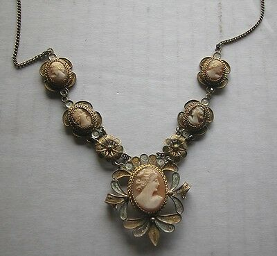 Masterpiece Silver Hand Made Filigree Cameo Necklace