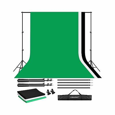 CRAPHY Portable Photo Studio 10 x 6.5ft Background Stand Kit Backdrop Support...