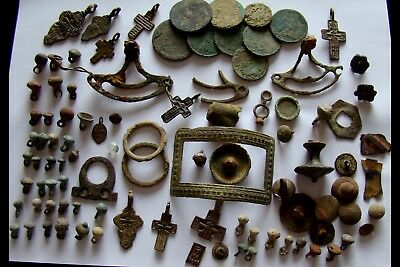 Genuine Ancient Crosses,Buttons,Fragments - Detector find