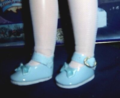 Lt Blue Patent Mary Jane doll shoes Bow on toe fit Magic Attic Kidz N Cats