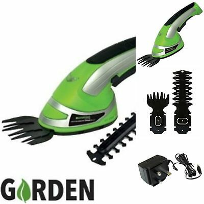 2-In-1 Garden Cordless Grass Shear & Hedge Trimmer Hand Held Shear 3.6 Volts