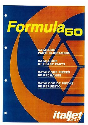 Italjet Formula 50 Motorcycle Spare Parts Manual