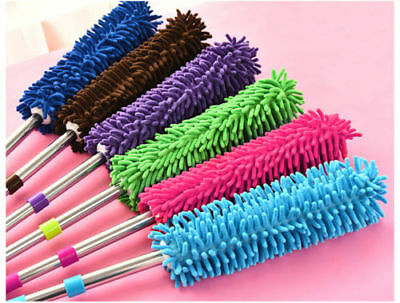 New Multifunctional Extendable Telescopic Microfiber Cleaning Duster Brush