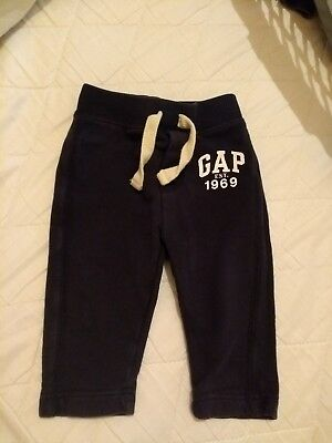 Baby Gap Navy Tracksuit Bottoms, Trousers, 12-18m Very Good Condition