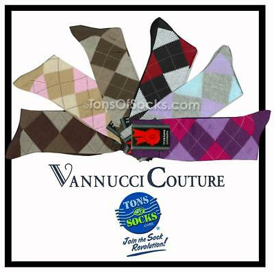 Men's Vannucci Colorful Cotton Argyle Dress Socks (1 PAIR)