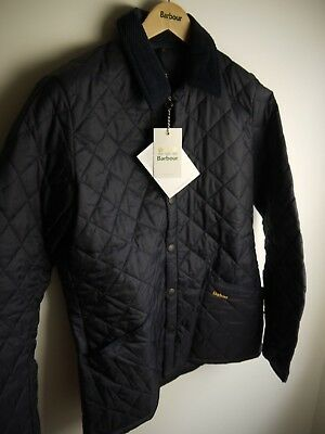 Barbour Men's Heritage Liddesdale Quilted Jacket, New With Tags, Navy Blue, Med.
