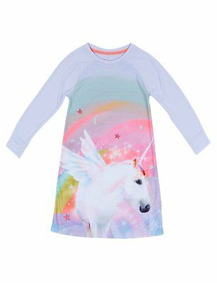 Ex store Marks & Spencer 12-18 months Unicorn long sleeve nightdress Brand New