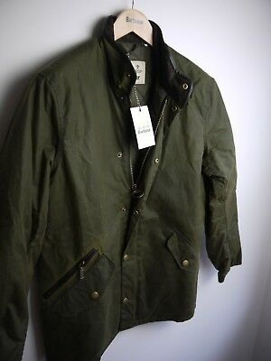 Barbour Men's Prestbury Wax Jacket, Medium, New With Tags, Green