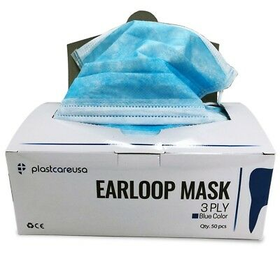 Ear Loop Procedure Dental Medical Surgical Face Mask (Blue) (Box of 50)