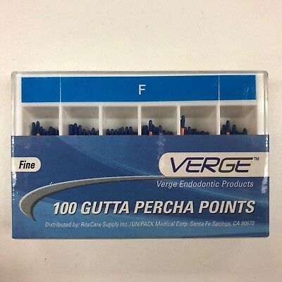 Gutta Percha Points (Qty 100) - 0.02 Fine - Verge Endo Dental Kit