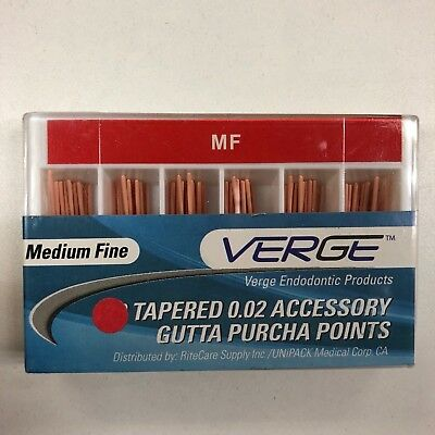 Accessory Tapered Gutta Percha Points (Qty 100) - 0.02 Medium Fine