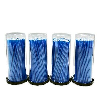 400 (4 Kegs) Dental Micro Applicator Brushes (Regular Tips) (Blue)
