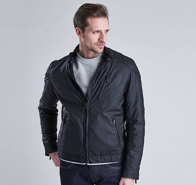 Barbour International Winter Sprocket Waxed Jacket Large in Black