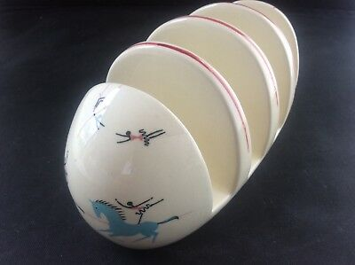 Vintage BESWICK Pottery Circus Pattern Toastrack MINT Condition Toast Rack