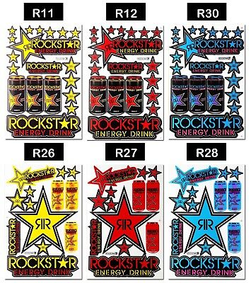 Rockstar Energy Stickers Motocross Race Bike Motorcycle Emblem Car Window Decals