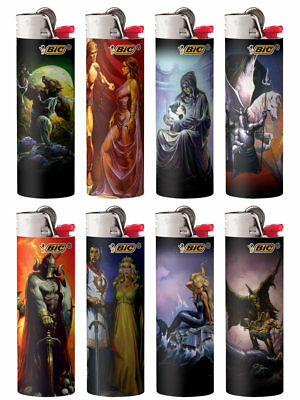 BIC Special Edition Supernatural Series Lighters, Set of 8 Lighters