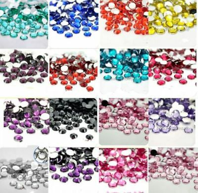 1000 Crystal Flat Back Acrylic Rhinestones Gems Diamond 4mm UK stock