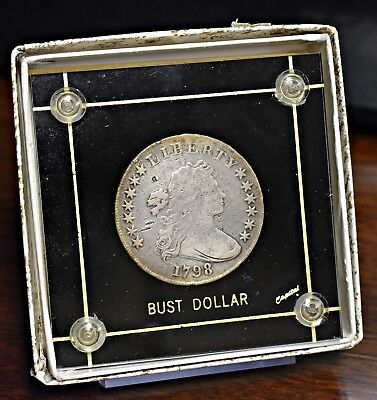 1798 Bust Dollar, Large Eagle, in Capital Plastic w/ box - Good Details (#12632)