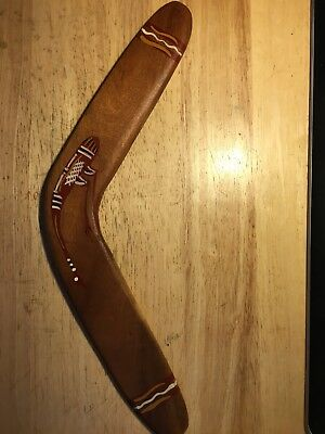 Vintage Wooden Australian Boomerang Hand Painted