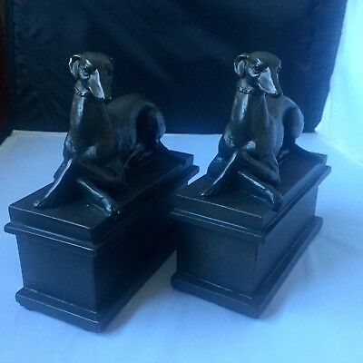 Vintage Greyhound dog figurines statues Bookends Art Deco