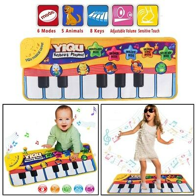 New Musical Music Kid Dnace Piano Play Baby Mat Animal Educational Soft Kick Toy