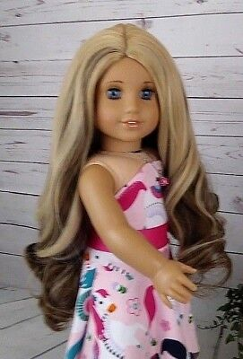 "10-11 Custom Doll Wig fit Blythe-American Girl-1/4 Size ""French Macaroon"" bn1"