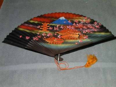 Large 22 Inch Vintage Japanese Hand Fan