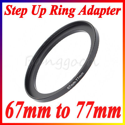 67mm to 77mm 67-77 67-77mm 67mm-77mm Stepping Step Up Filter Ring Adapter Black