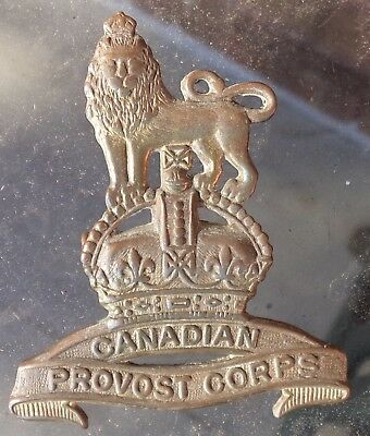 Ww2 Canadian Provost Corps Military Police Hat Cap Badge