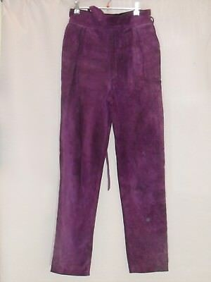 "1980's Vintage ""Jenny Bannister"" High Waisted Suede Pants with /tapered Legs."