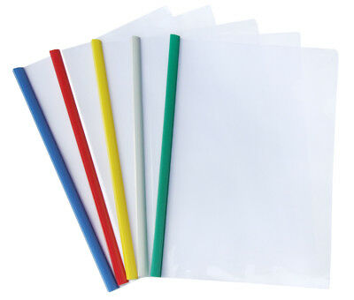 A4 Slide Binding Binder Strip Clear Cover 12 Pack Au Stock Document File Folder