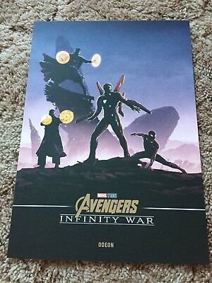 Marvel Avengers Infinity War A4 Poster Odeon Cinema RARE midnight booking only!