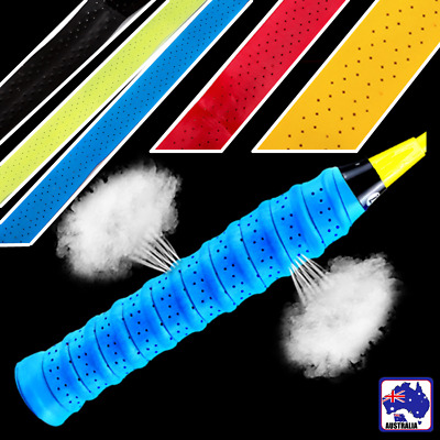 2pcs Anti-slip Tennis Badminton Squash Racquet Over Grip Tape Sweatband CBE0040