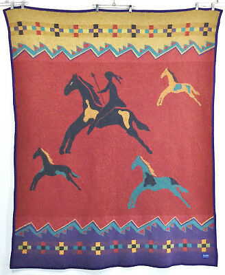 Pendleton Celebrate The Horse Reversible Southwest Indian Wool Camp Blanket