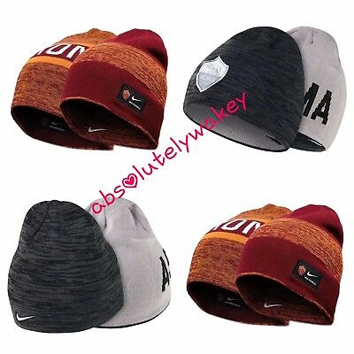 115d298ee90 Nike AS Roma Reversible Football Soccer Training Unisex Beanie Hat One Size