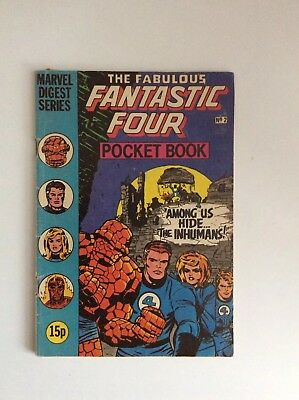 Marvel Comics marvel Digest Series The Fantastic Four pocket book issue 2