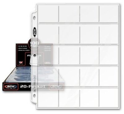 Coin Collecting Protector Supplies Plastic Sheets Sleeves Album Binder 20 Sheets