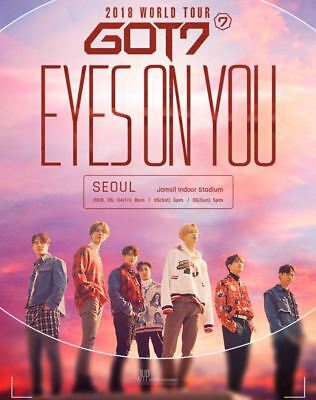 Got7 2018 World Tour Eyes On You Official Goods Wappen Set Sealed