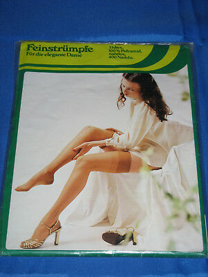 60s Nylonstrümpfe*no name-mode*Gr. 8 1/2*Strapsstrümpfe Perlons Bas Stockings(19