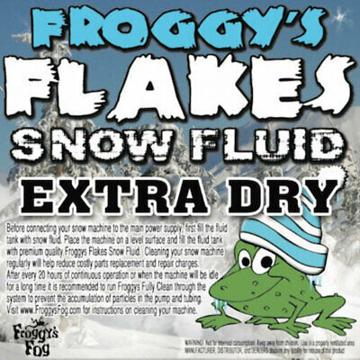 2.5 Liter - EXTRA DRY - Froggys Flakes Snow Juice Machine Fluid