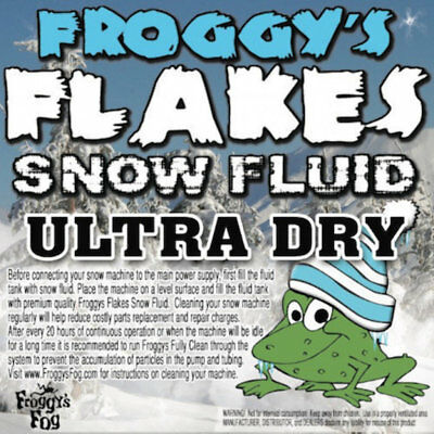 1 Liter - EXTRA DRY - Froggys Flakes Snow Juice Machine Fluid