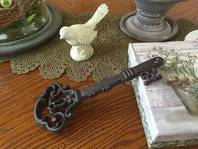 Vintage Replica Cast Iron Key OLD Antique Garden Decor Brown