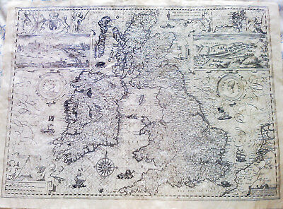 """The kingdom of Great Britain & Ireland 1610  - reproduction old map  20"""" x 15"""""""